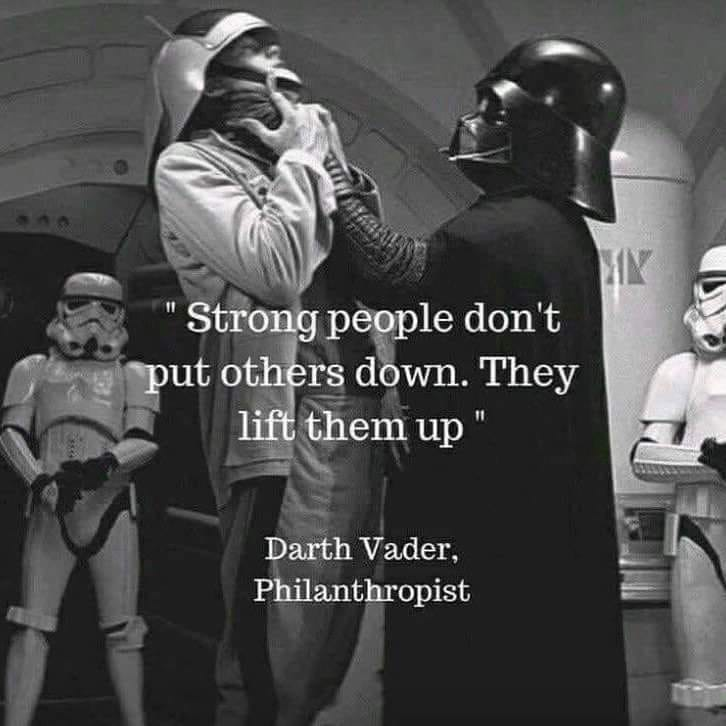 Lifting people up - be wise.