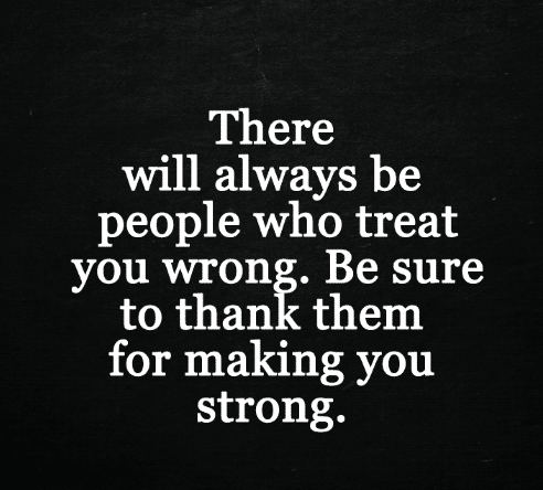 Thanks for making me strong!